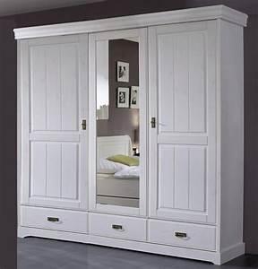 Kleiderschrank 192x217x62cm 2 Holztren 1 Spiegeltr 2