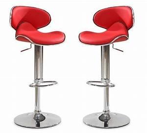 Chaise De Bar Rouge : chaises de bar rouge maison design ~ Teatrodelosmanantiales.com Idées de Décoration