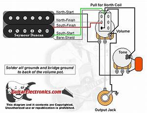 1 Humbucker  1 Volume  1tone  Pull For North Single Coil