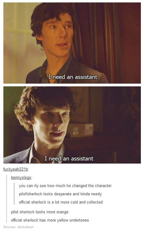 sherlock pilot unaired between aired he benedict fandom cold assistant bbc difference acting imgur differences official comments being hahaha stands