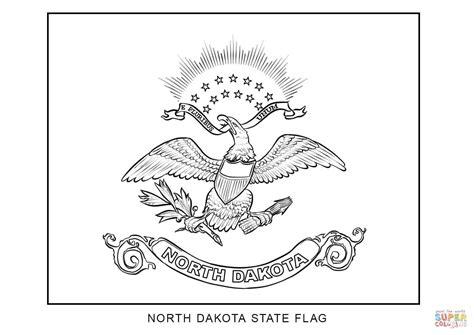 Flag of North Dakota coloring page   Free Printable ...
