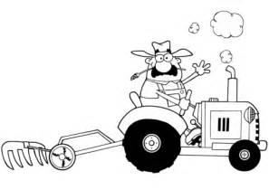 ausmalbild ein froehlicher bauer faehrt einen traktor ausmalbilder kostenlos zum ausdrucken