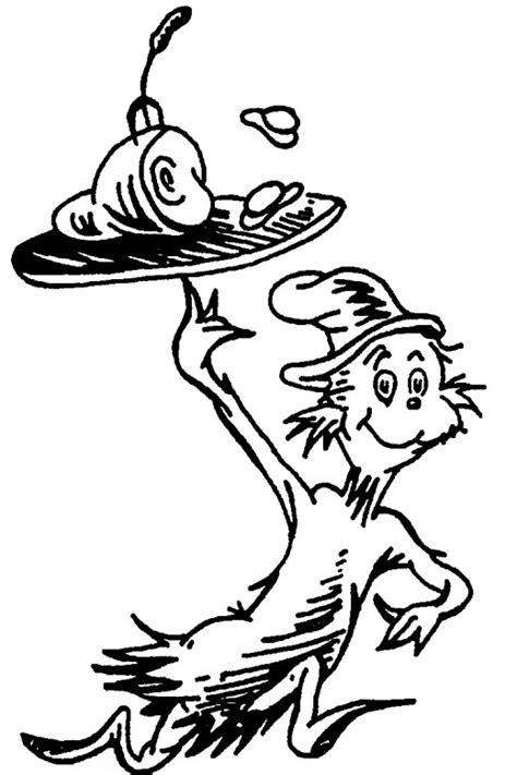 Coloring Things by Dr Seuss Thing 1 Coloring Page Coloring Home