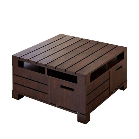 table and storage rustic storage coffee table coffee table design ideas
