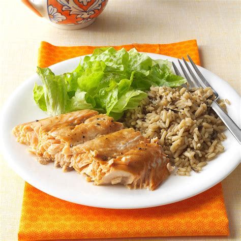 Best Meals At Home by Salmon With Brown Glaze Recipe Taste Of Home