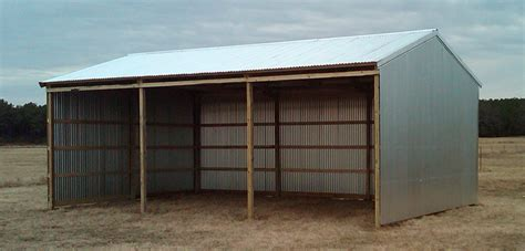 Traditional 3-sided Post Frame Building Packages From