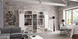 Deco Murale Industrielle : mur pierre de parement gris clair recherche google my home pinterest salon mobilier de ~ Teatrodelosmanantiales.com Idées de Décoration