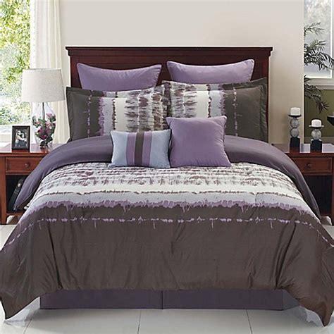 hudson reversible comforter set  purplegrey bed bath
