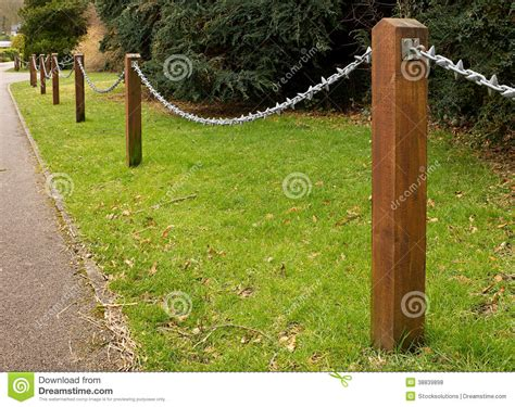 decorative fence post chain fencing stock photo image of hook ornate 3119