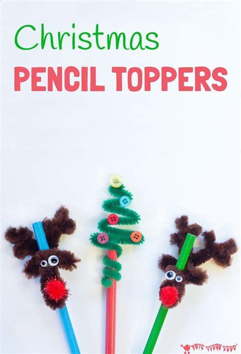 christmas pencil toppers basteln mit kleinkindern