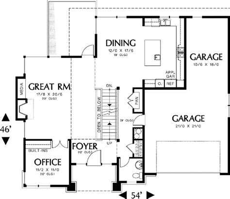 prairie style solution  sloping lot   floor master suite cad