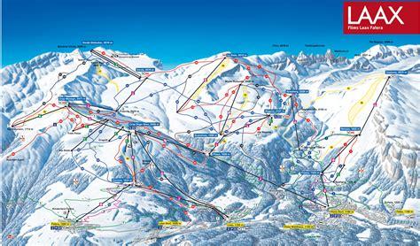 Flims Laax Falera ski map
