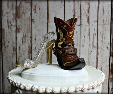 Boots And Heels-country Western Wedding Cake Topper-his