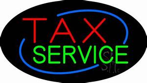 Deco Style Tax Service Animated Neon Sign Tax Service Neon