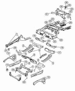 2015 Dodge Challenger Subframe  Rear Axle