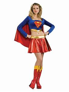 Adult Super Sexy Supergirl Fancy Dress Costume Ladies ...
