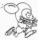 Football Coloring Pages Printable Sheets Receiver Printables Printactivities Ball Bestcoloringpagesforkids sketch template