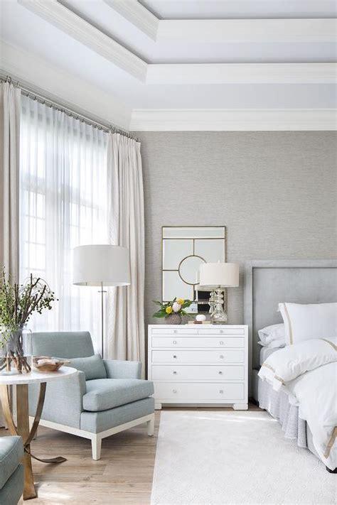 dove gray velvet tufted bed  white  gold hotel