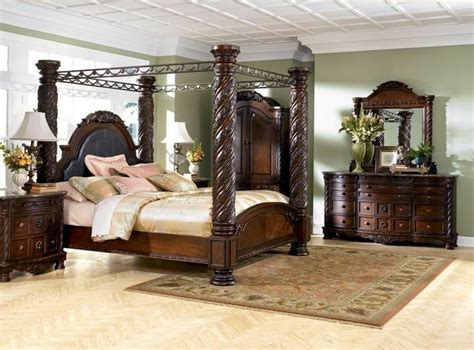 pc north shore poster king bedroom set ashley furniture