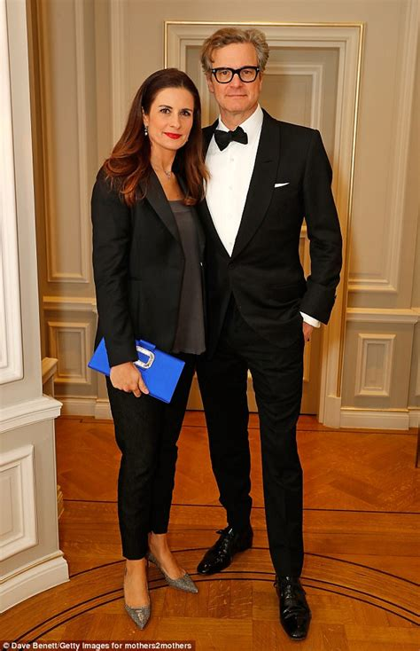 Colin Firth is outshone by his wife Livia at London awards ...