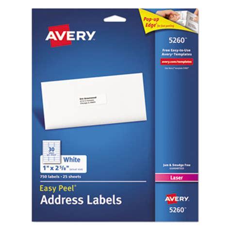 avery 5260 easy peel 1 quot x 2 5 8 quot printable mailing address