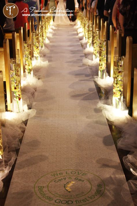 awesome aisle decorations for wedding 6 tulle aisle