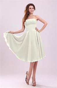 cream simple a line sleeveless backless pleated wedding With cream dresses for a wedding guest