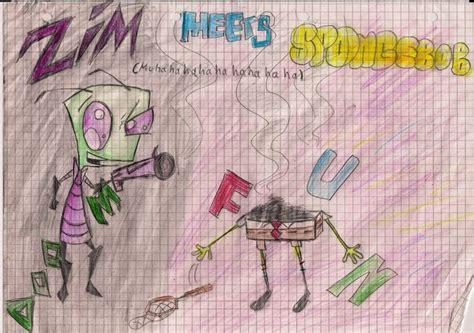 Zim Vs Spongebob By Invaderann On Deviantart