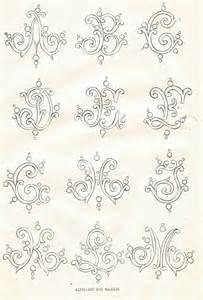 Antique Embroidery Alphabet Fonts