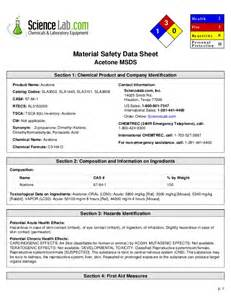 Acetone MSDS Data Sheet