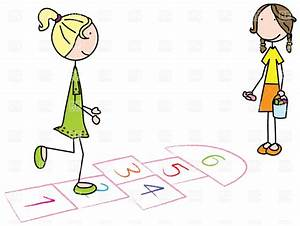 Kids playing hopscotch Royalty Free Vector Clip Art Image ...