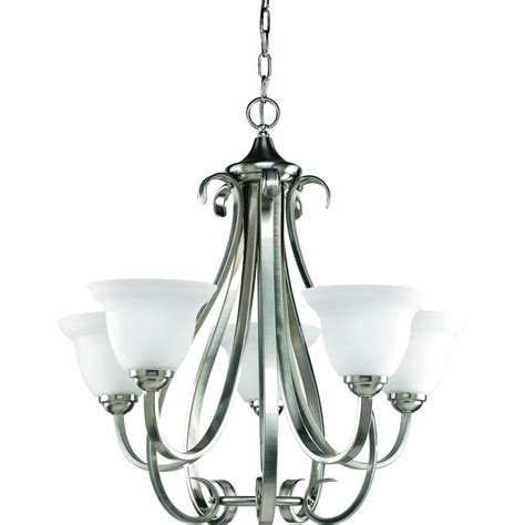 Chandeliers Lighting Collections by Progress Lighting Torino Collection 5 Light Brushed Nickel