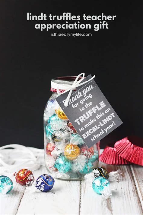 lindt truffles teacher appreciation gift   printable gift tag skip   lou