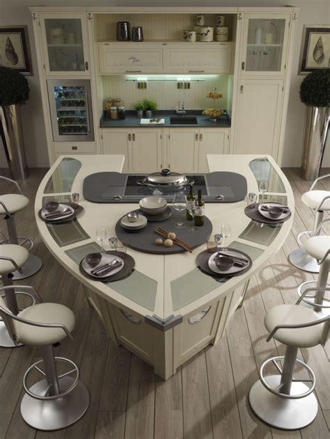 kche mit integriertem essplatz moderne kochinsel in der küche 71 perfekte design ideen