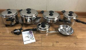 lifetime cookware stainless waterless regal ware west bend skillet mp pots pan ebay