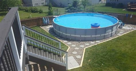 making  outdoor oasis   intex pool hometalk