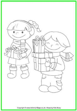 activity village christmas free colouring pages for children