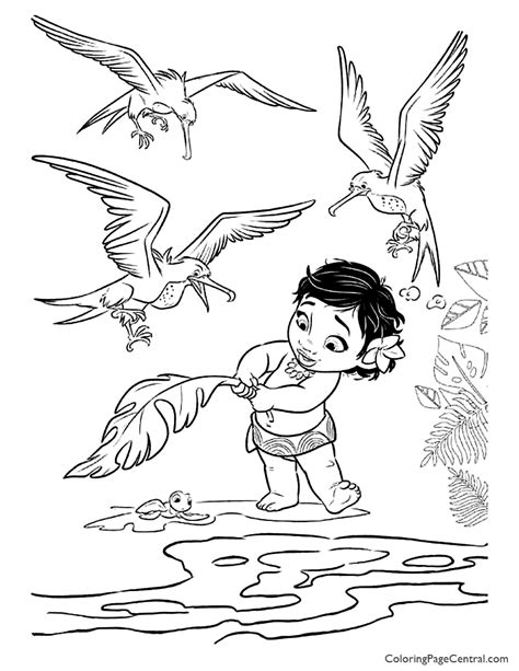 moana coloring page  coloring page central