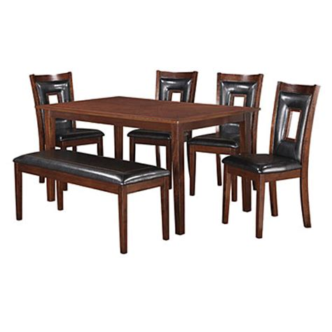 6 piece padded dining set with bench big lots