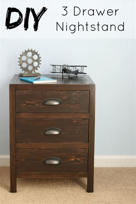 Plans For Nightstand by White Diy 3 Drawer Nightstand Diy Projects