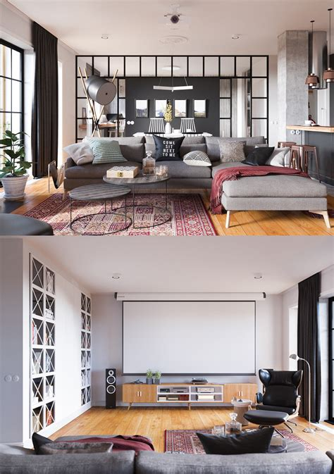 A Beautiful One Bedroom Bachelor Apartment 100 Square Meters With Floor Plan by Homedesigning Via A Beautiful One Bedroom Apartment