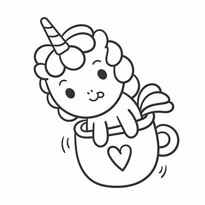 Unicorn Coloring Momlifehappylife Cup Princess Tea Unicorns