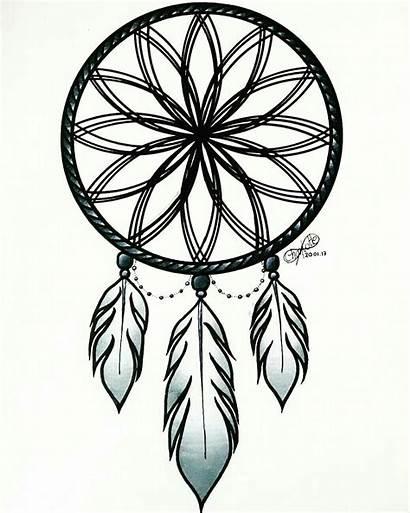 Drawing Dreamcatcher Catcher Dream Moon Sketch Drawings