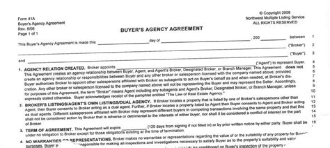 buyers agreement business template