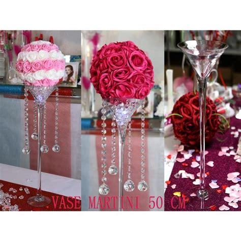 vase martini 50 cm d 233 coration mariage centre table mariage et f 234 te achat vente d 233 cors de
