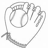 Baseball Coloring Glove Ball Printable Drawing Pages Mitt Sports Helmet Cliparts Clipart Cartoon Diamond Father Bat Gloves Library Clip Link sketch template
