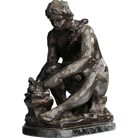 Fine Antique C1916 Bronze Sculpture By Pierre Auguste