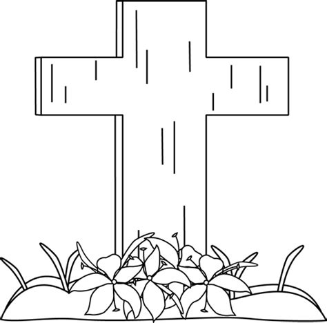 easter cross clipart black and white black and white easter cross and lilies in the grass clip