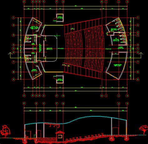amphitheater autocad cad kb