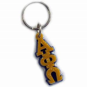 alpha phi omega letter keychain craftique cqmgla With greek letter keychain